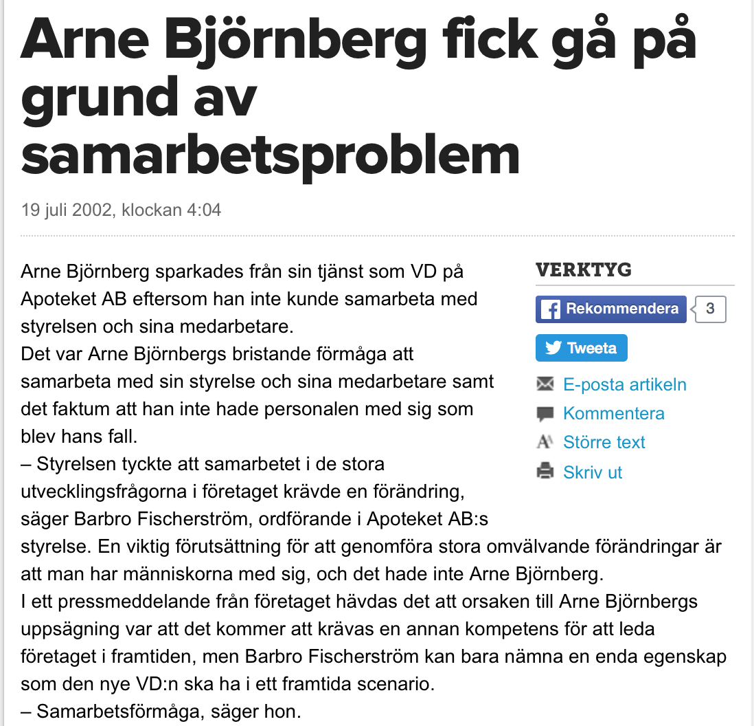 Svenska tobaksexperter pa dubbla stolar